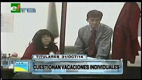 Titulares: Magistrados cuestionan norma sobre las vacaciones individuales