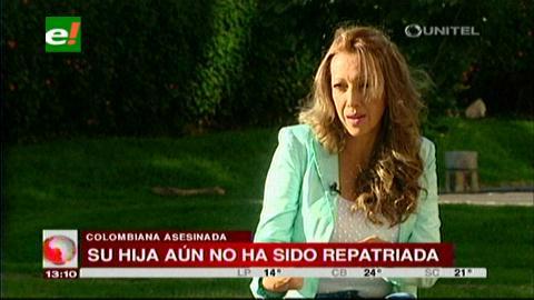 Madre de colombiana asesinada reclama la pronta repatriación de su hija