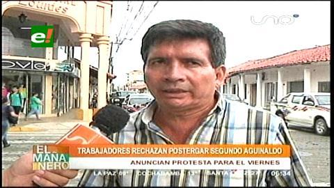 COD rechaza la postergación del segundo aguinaldo hecha por empresarios