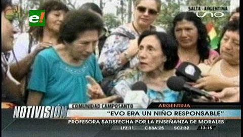 Maestra De Morales Cumplí Con Evo Tengo La Satisfacción Del Deber