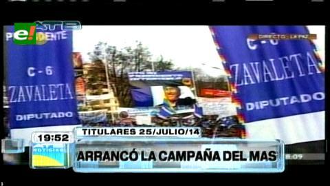 Titulares: Binomio Evo-Álvaro arranca su campaña electoral en La Paz