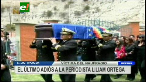 Enterraron los restos de cadete y periodista