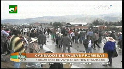 """Cochabamba: Vinto ingresa al paro contra «las falsas promesas"""" de Semapa"""