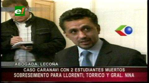 Llorenti y Nina quedan fuera del caso Caranavi