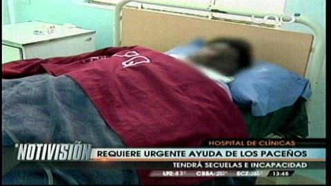 La Paz: Claman ayuda dos personas con quemaduras por impacto de rayo