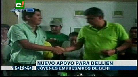 Beni: Carlos Dellien suma apoyo de los jóvenes empresarios
