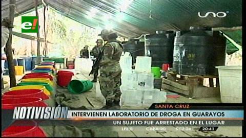 Guarayos: Destruyen laboratorio de cristalización de cocaína