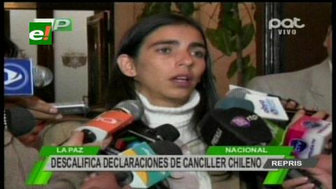 """Gabriela Montaño: """"Los demandados deben comprometerse a acatar fallos de La Haya"""""""