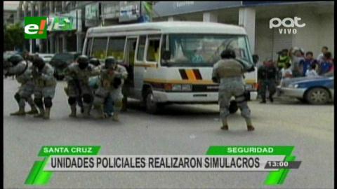 Policía realizó simulacro de seguridad para el Papa