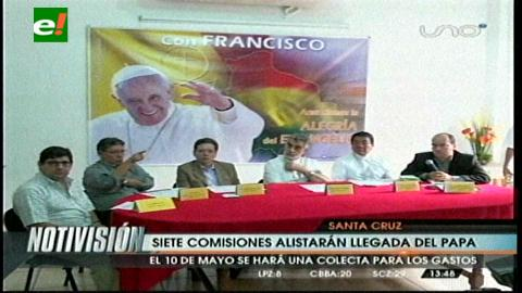 Iglesia convoca a gran colecta para la visita del Papa