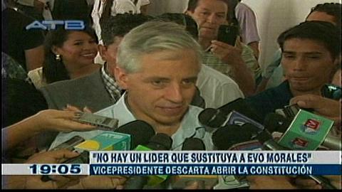 El Gobierno descarta abrir la Constitución para una nueva reelección de Evo