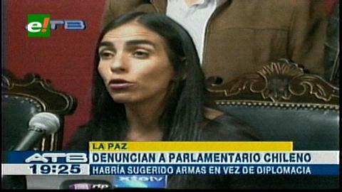 Tildan de amenaza dichos de un congresista chileno