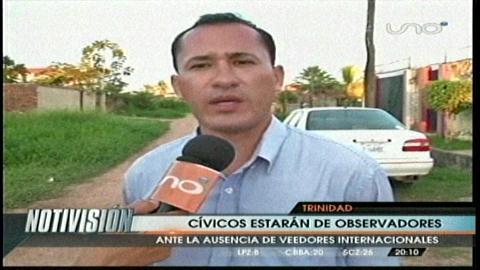 Segunda vuelta: Cívicos irán a Beni y Tarija como veedores