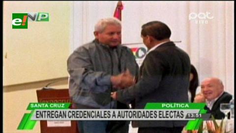 Santa Cruz: TED entregó credenciales a las autoridades electas