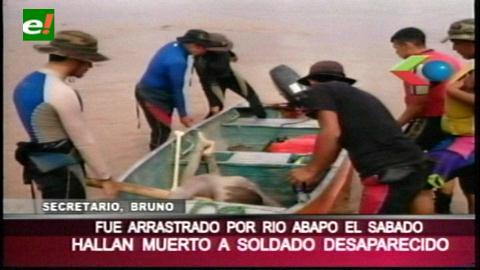 Hallan cuerpo de soldado ahogado en el río Abapó