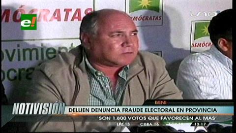 Beni: Dellien denuncia fraude electoral en provincias