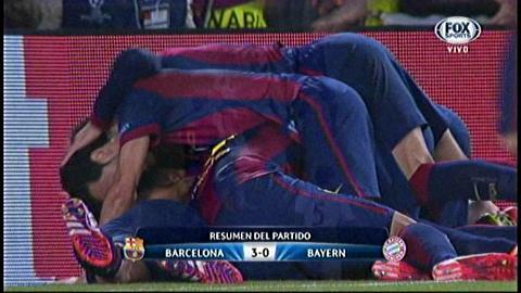 Barcelona da un paso a la final de la Champions con goleada de 3-0 sobre el Bayern