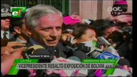 Vicepresidente califica de demoledor el argumento frente a Chile