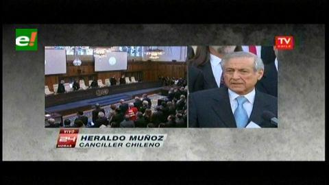 Canciller Muñoz tras réplica chilena: «Se demostró la contradicción y falta de coherencia de Bolivia»
