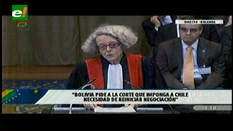 Asesora de Bolivia en La Haya: Chile se contradice al negar su intención de negociar