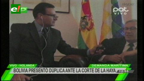 Rodríguez Veltzé y la demanda marítima: «La verdad es la que prima y nosotros estamos con ella»