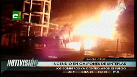 Santa Cruz: Incendio en una fábrica del Parque Industrial