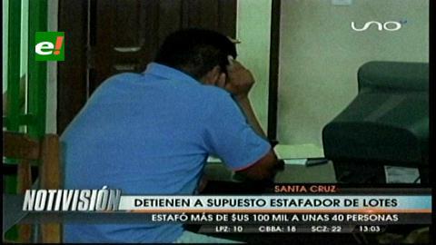 Santa Cruz: Detienen a supuesto estafador de lotes