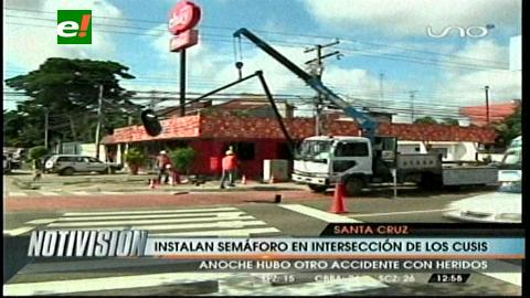 Instalan semáforo donde se accidentó Valeria
