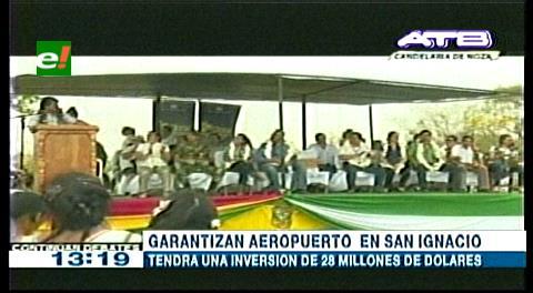 Evo participa en firma de contrato para construir aeropuerto en San Ignacio de Velasco