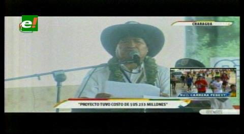 Gobierno firma contrato por $us 253 millones para construir carretera Espino-Charagua-Boyuibe