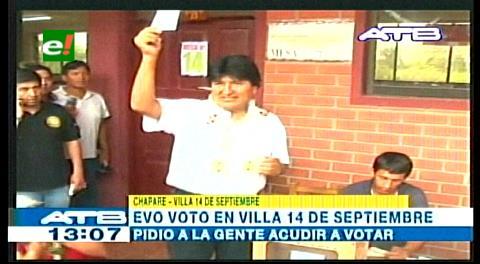 Presidente Morales convoca a mantener primeros lugares de participación
