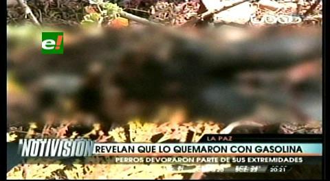 Hallan un cadáver atado y quemado en La Paz