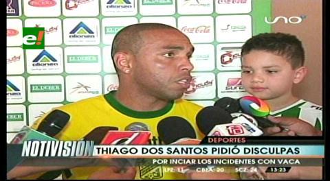 """Thiago Dos Santos pide disculpas a Blooming: """"Me equivoqué en mi festejo"""""""
