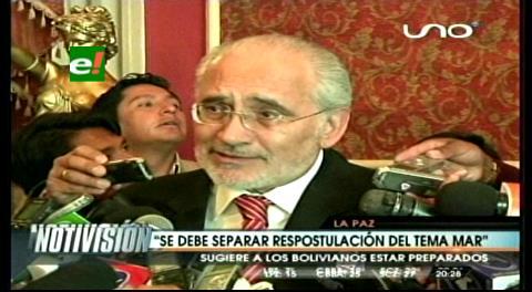 Mesa desvincula el tema marítimo de la reelección de Evo