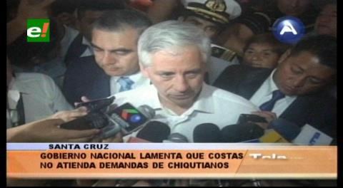 Vicepresidente pide a Costas atender las demandas de los chiquitanos