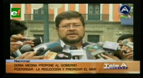 Doria Medina propone postergar la reelección y priorizar el tema marítimo