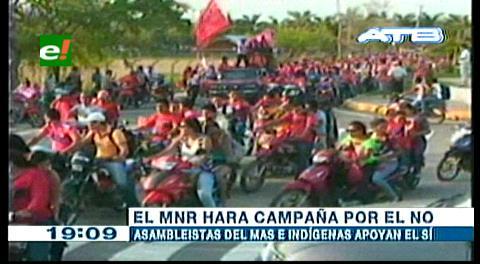 Beni: MNR hará campaña por el NO a la repostulación de Evo Morales