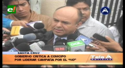 Ministro Ferreira critica a Comcipo por liderar la campaña por el NO a la reelección de Evo