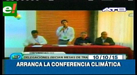 Titulares de TV: Arrancó la Conferencia Climática en Tiquipaya