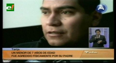 Tarija: Encarcelan a un padre que hizo cortes en la mano de su hijo