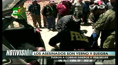 Sospechan que los padrinos son autores del asesinato de una pareja en El Alto