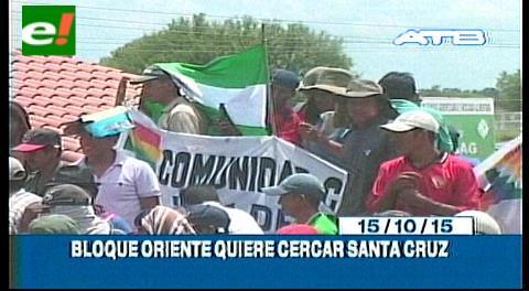 Titulares de TV: Bloque Oriente quiere cercar Santa Cruz, Yapacaní no permitirá el bloqueo de carreteras