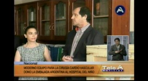 La Paz: El Hospital del Niño recibe equipo para cirugías de corazón