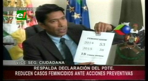 Gobierno: Los casos de feminicidio disminuyeron con relación al 2014
