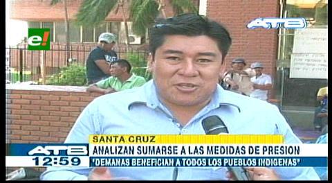 Guaraníes se sumarán a la vigilia de los chiquitanos en la Gobernación cruceña