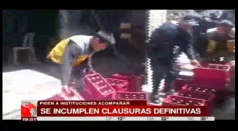 Proponen sanciones mas drásticas a los locales ilegales en La Paz