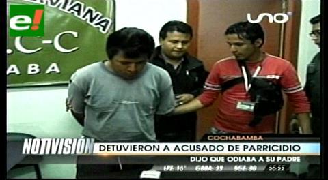 Cochabamba: Capturan a joven acusado de asesinar a su padre por sus bienes