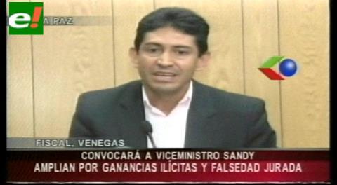Transparencia pide a viceministro Sandy demostrar origen de su patrimonio
