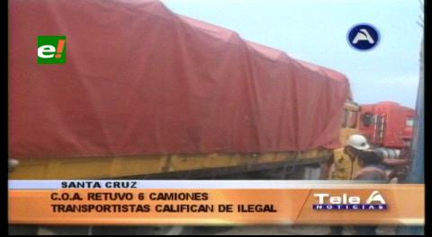 COA retiene 6 camiones cargados de maíz, transportistas califican de ilegal la detención
