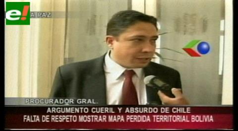 Procurador afirma que es absurdo y vergonzoso que Chile utilice mapas con pérdidas territoriales de Bolivia